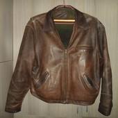 куртка кожаная мужская размер 56-58