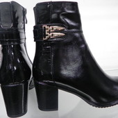 Кожаные зимние ботинки 37-41