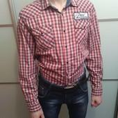 Крутая мужская рубашка Jack & Jones M - L.