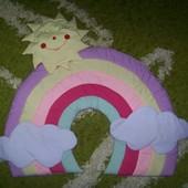 Мягкая радуга для детской комнаты
