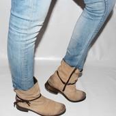 Ботинки 41 р, Marco Tozzi, Германия, кожа, демисезон, оригинал.