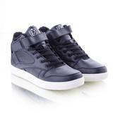 Мужские утепленные кроссовки 10933 черные и синие