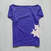 Стильная футболка для девочки. V&L. Размер не указан, смотрите замеры, ориентировочно на 6-8 лет
