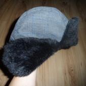 продам шапку з мехом, розмір 58-60 см