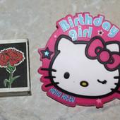 Большой резиновый значок Hello Kitty