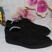 42-43 28см Оригинальные замшевые мужские туфли криперсы