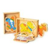 Деревянная игрушка Пазлы, 2 вида (животные, транспорт)