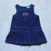 Стильное джинсовое платье для маленькой принцессы. BHS. Размер 0-3 месяца. Состояние: новой вещи