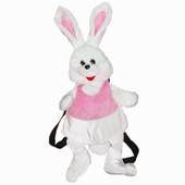 Детский рюкзак Зайчик Снежок, мягкая игрушка