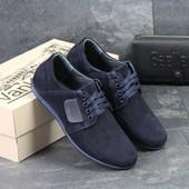 Туфли мужские замш Van Kristi dark blue