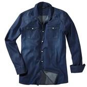 Очень классная синяя мужская джинсовая рубашка от Livergy размер S L