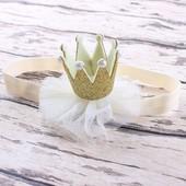 Детская повязочка на голову корона