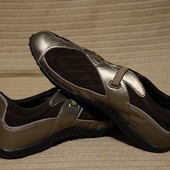 Эффектные комбинированные кожаные кроссовки Geox Respira Италия 41 р.