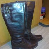 Срочно! Зимние кожаные сапоги нат мех фирма Aldo размер 39 стелька 26