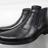 Кожаные зимние ботинки 40,42