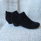 Gabor р.39 ботильйони ботинки туфли замшеві