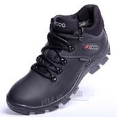 Зимние кожаные кроссовки Ecco Gore-Tex Grip Point