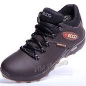 Зимние кожаные кроссовки Ecco Gore-Tex Airborne
