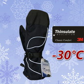 Лыжные мужские рукавицы со встроенной перчаткой Thinsulate Igloos Сша