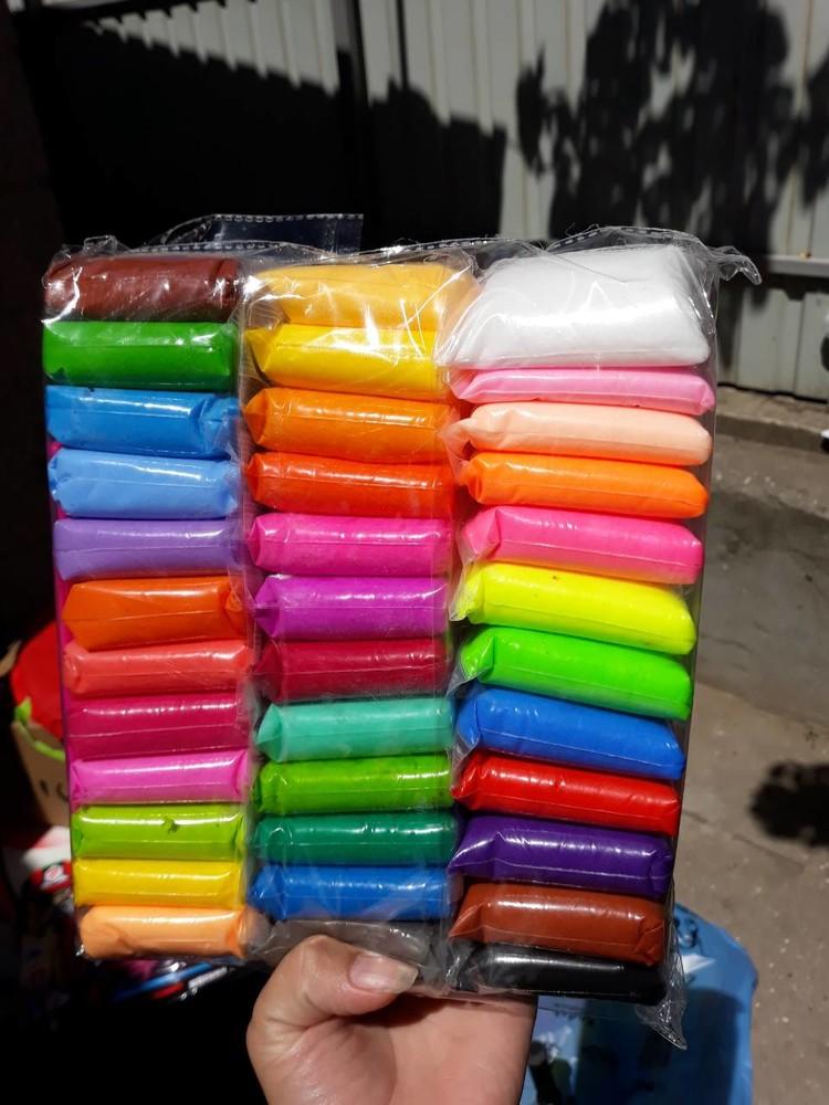 Прыгающий пластилин 36 пакетиков супер легкая масса для лепки фото №1