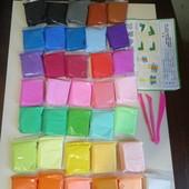 Прыгающий пластилин 36 пакетиков супер легкая масса для лепки