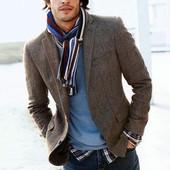 Мужской стильный шарф в полоску от Тсм Tchibo
