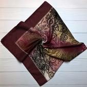 Кашемировый платок узор вишня
