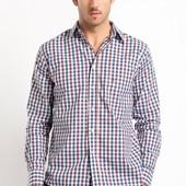 Рубашка мужская Maine New England в клетку (L) размер 50-52