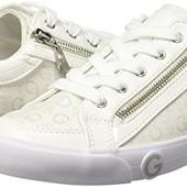 Белые текстильные кеды бренд Guess р. 38