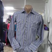 Молодежная рубашка в клеточку S-M