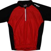 Мужская велофутболка велосипедка красная черная с карманами отражателями Muddyfox L M