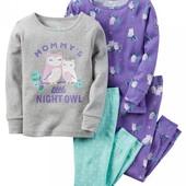 Пижама Carter's, комплект 4 вещи, размер 2Т