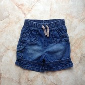 Джинсовые шорты фирмы George на возраст 9-12 мес (реально до 2 лет)
