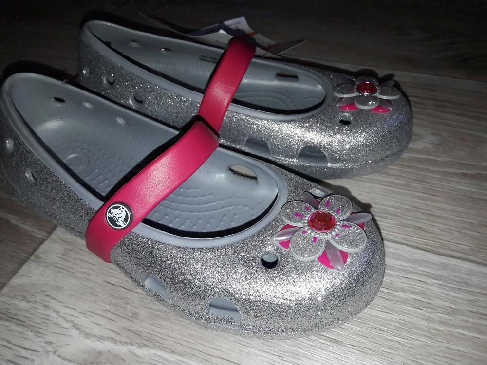 Crocs kids keeley glitter springtime р 12 оригинал фото №1