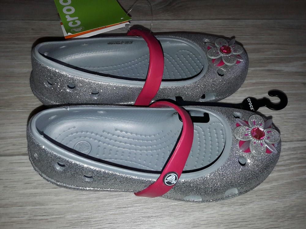 Crocs kids keeley glitter springtime р 12 оригинал фото №3