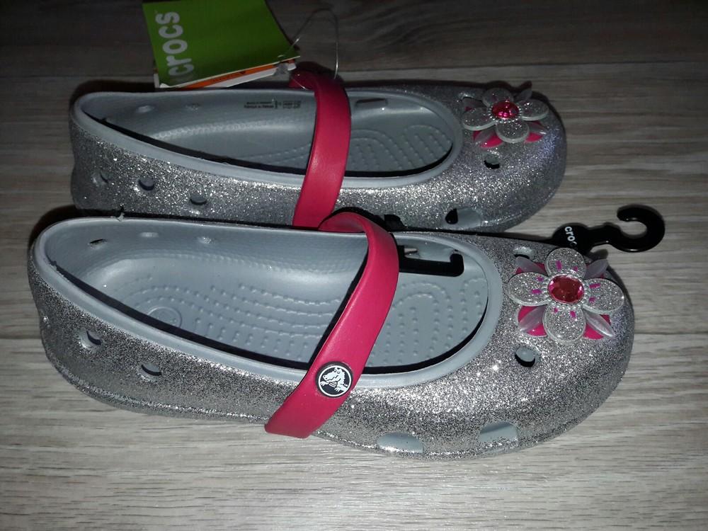Crocs kids keeley glitter springtime р 12 оригинал фото №6