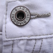 Мужские штаны джинсы белые Biaggini Размер 32 30