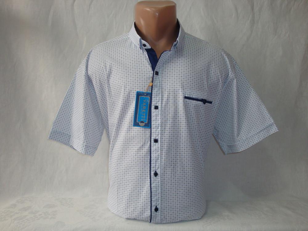 Мужская рубашка с коротким рукавом Varetti, Турция. Большие размеры. Разные цвета. фото №1