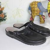 Распродажа 42 27см More&Comfort Натуральные кожаные тапочки, закрытые шлепки