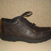 Утепленные кожаные мужские полуботинки Rieker р. 45 стелька 30 см