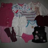 Пакет одежды на девочку 3-4года