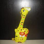 Детская игрушечная гитара на батарейках, 38см