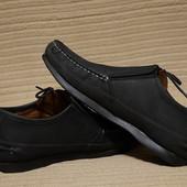 Очень удобные кожаные мокасины с боковой шнуровкой Burton  Англия 43 р.