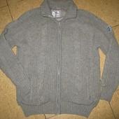 Красивая шерстяная кофта-куртка на подкладке. р XL!