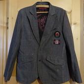Оригинальный современный х/б клетчатый пиджак Canadian Rockies Канада.