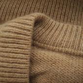 Мужской свитер кофта джемпер кофейный песочный из чистого кашемира Шотландия