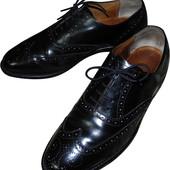 Мужские туфли черные броги Tebbut Toylor Англия Размер 8 1/2 ст 27 см