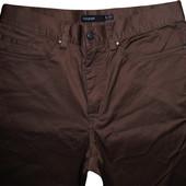 Мужские штаны брюки коричневые стрейч Autograph Marks&Spencer 29L 74cm / 32W 81cm
