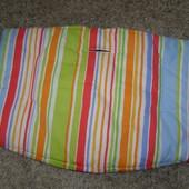 Новая подушка для стульчика Stokke  цвет: Художественная полоска. Нижняя подушка