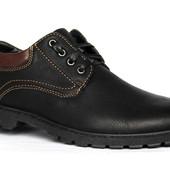 43 и 46 р Современный мужские демисезонные туфли (Д 394-2)